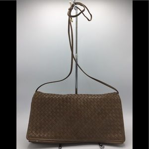 Vintage Charles Jourdan Italy Woven Leather Purse